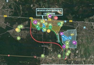 Interaktywna mapa WOW przez Warszawę-Wesołą i Sulejówek